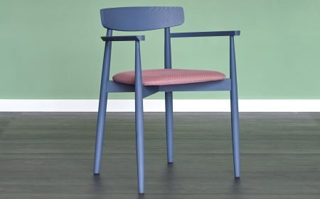 CLARETTA blue carver dining chair miniforms