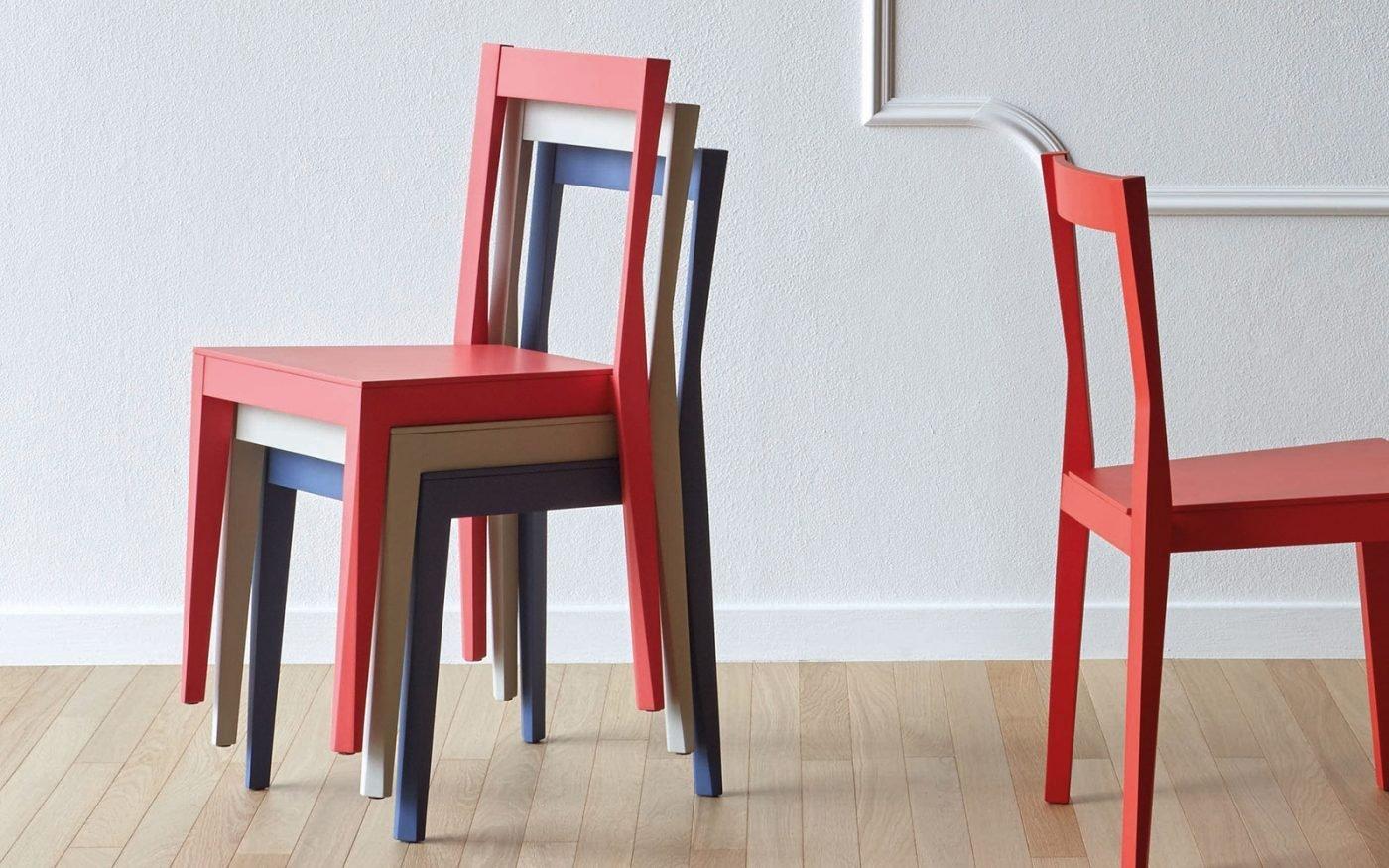 EMILIA chair coloured wood miniforms