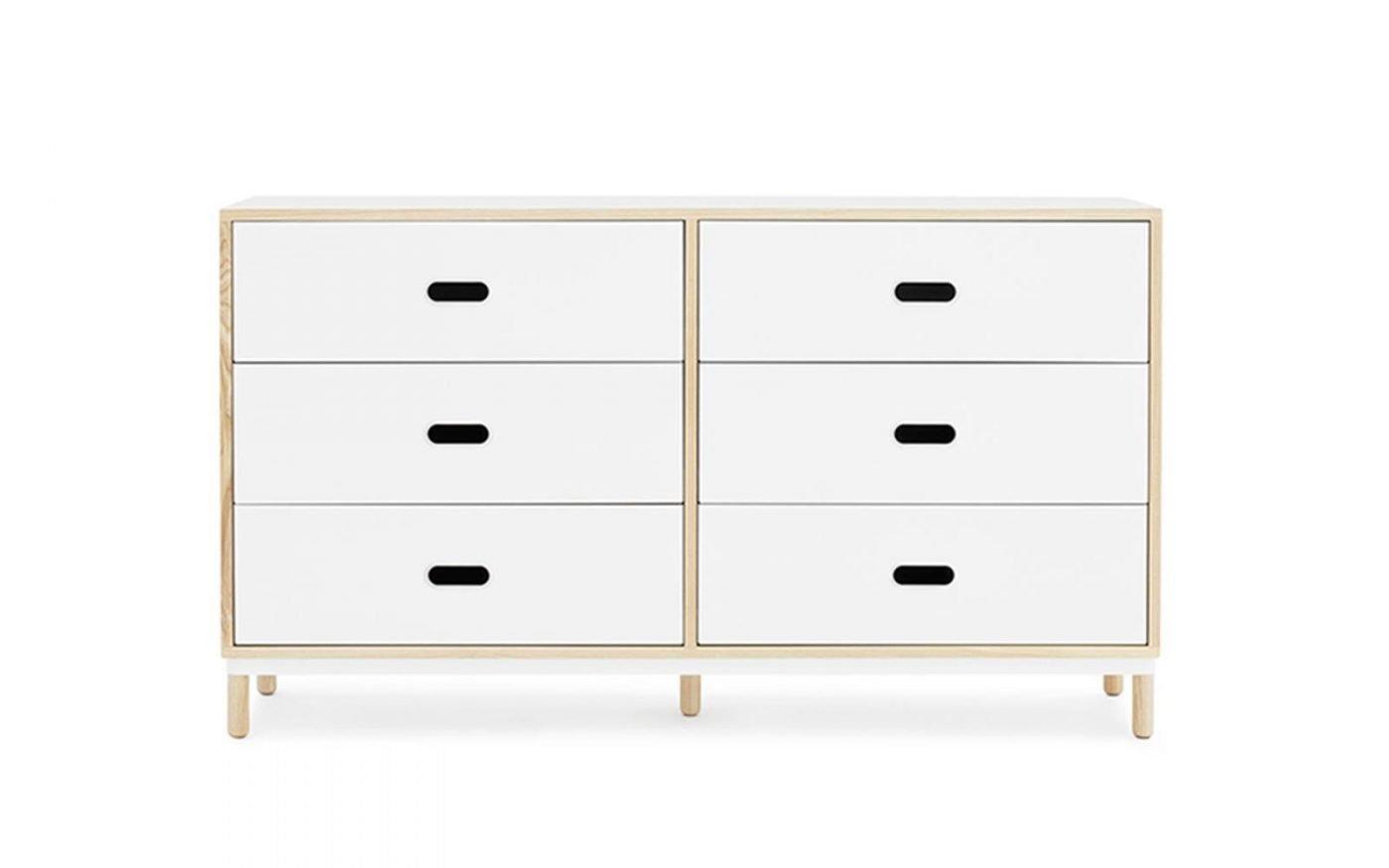 Kabino-normann-copenhagen-6-drawer-white