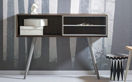 Olivia wooden console table with angled legs miniforms
