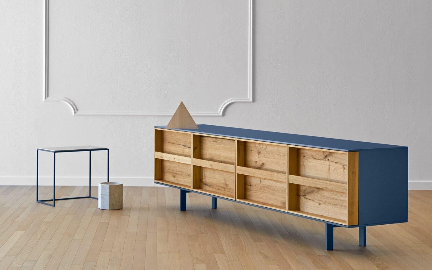 RAMBLAS blue sideboard miniforms