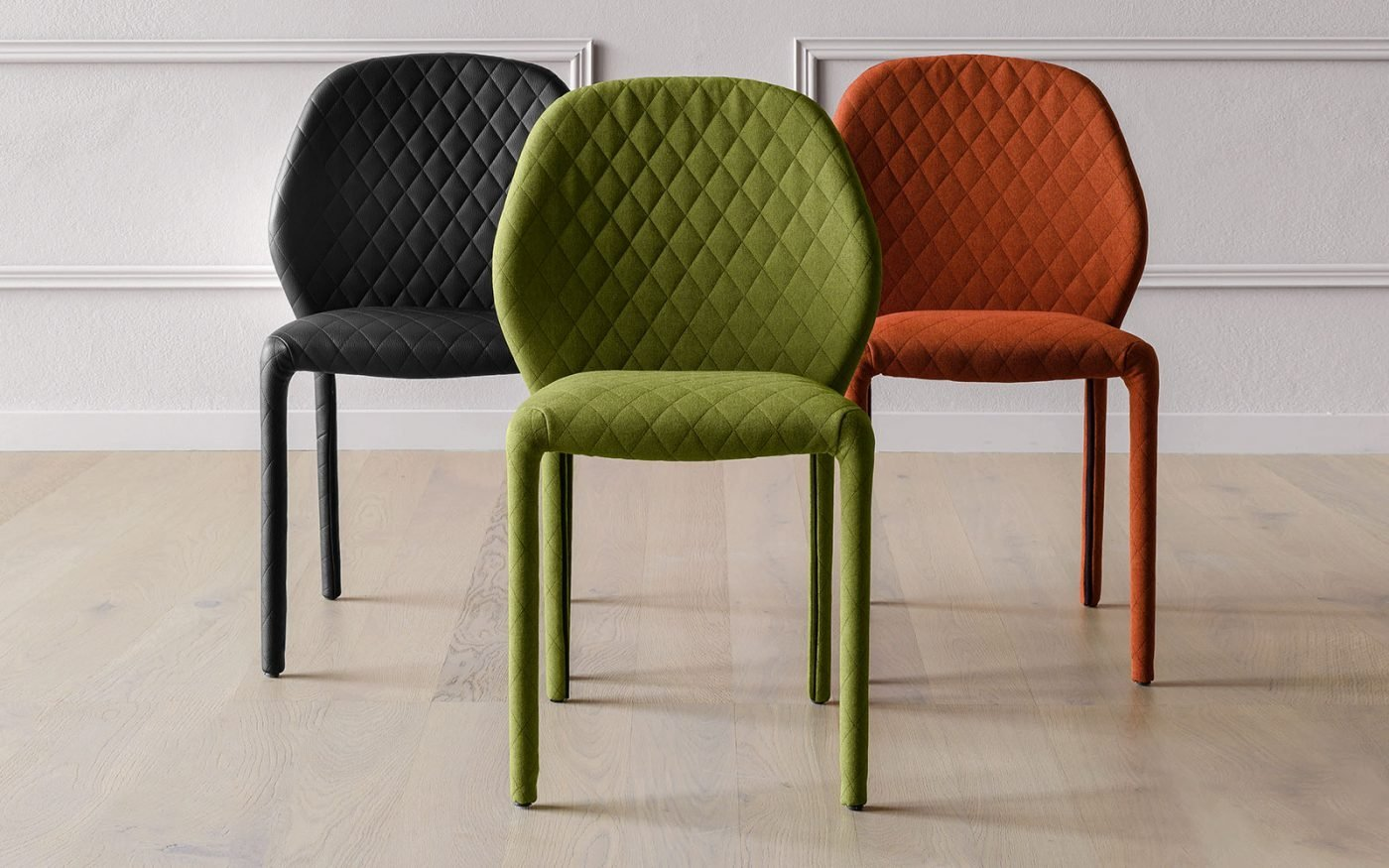 Dumbo chair upholstered green orange black miniforms