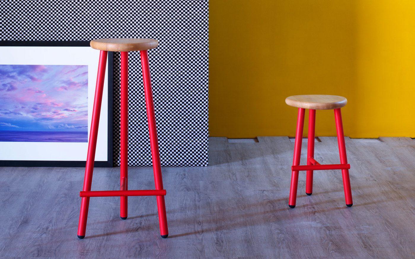 milk modern stool miniforms