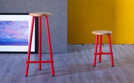 milk modern stool miniforms