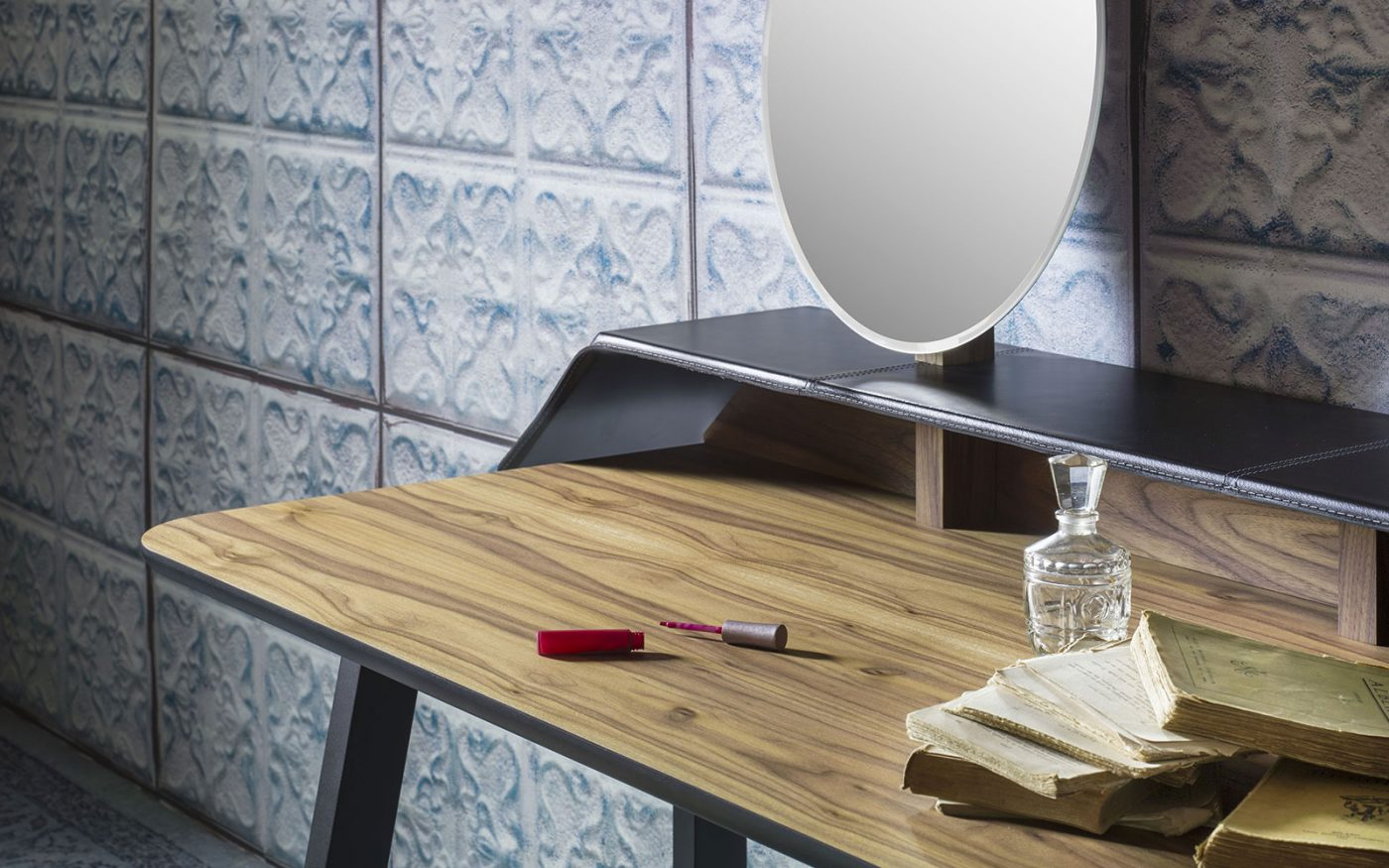 tolda wooden dressing table with mirror by miniforms