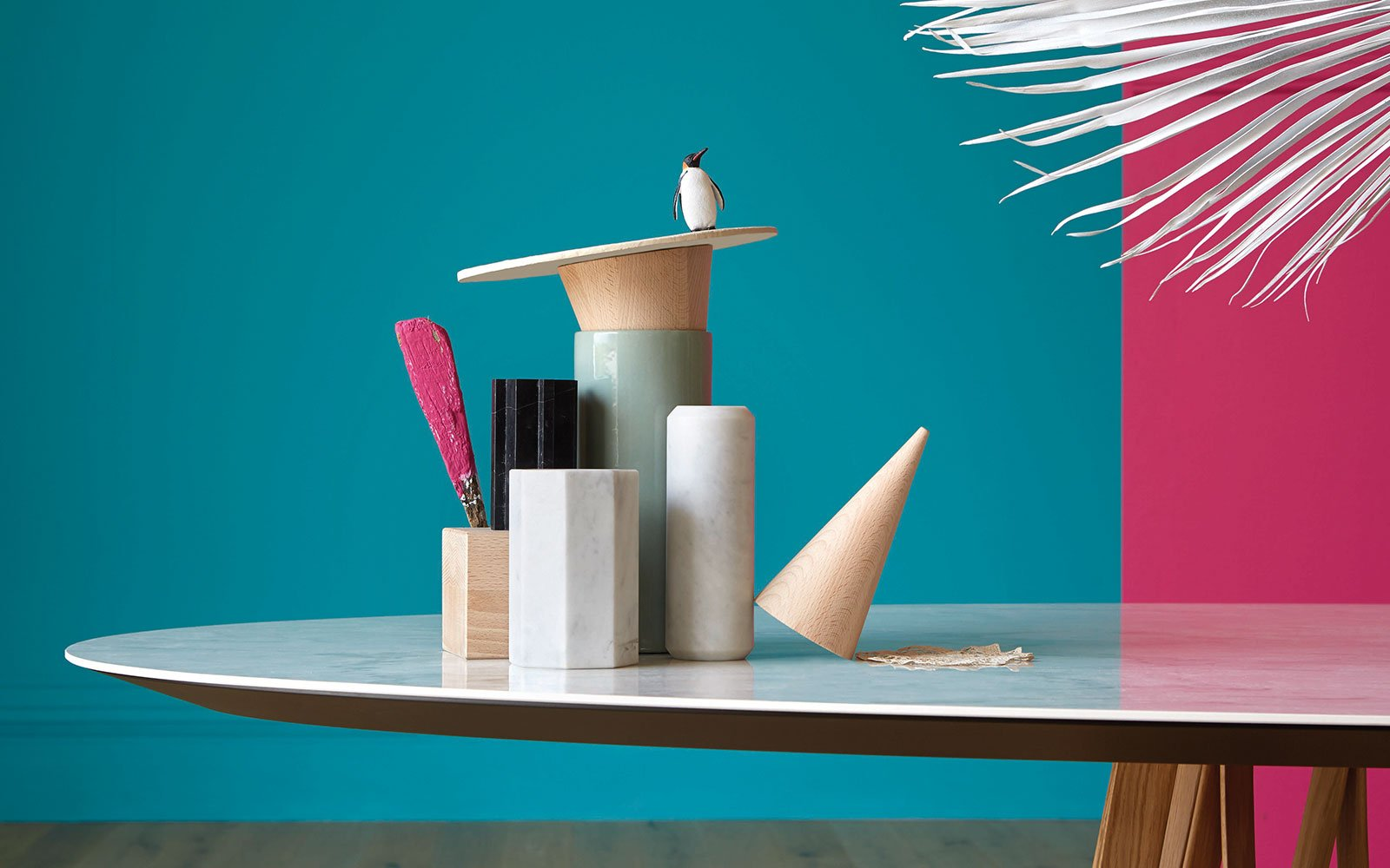 ceramic top table - acco - miniforms