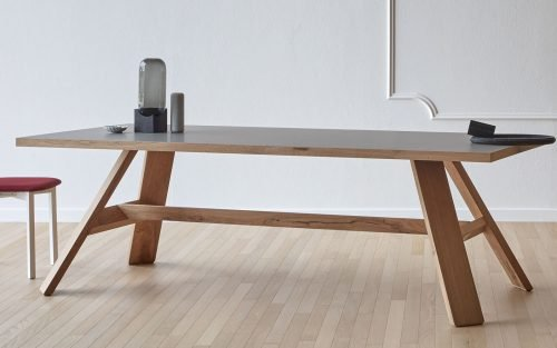 Artigiano Wooden base and fenix top Dining Table