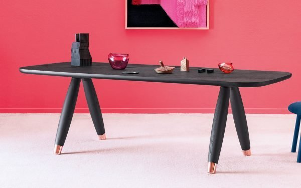 BASILIO black ash modern DINING TABLE miniforms