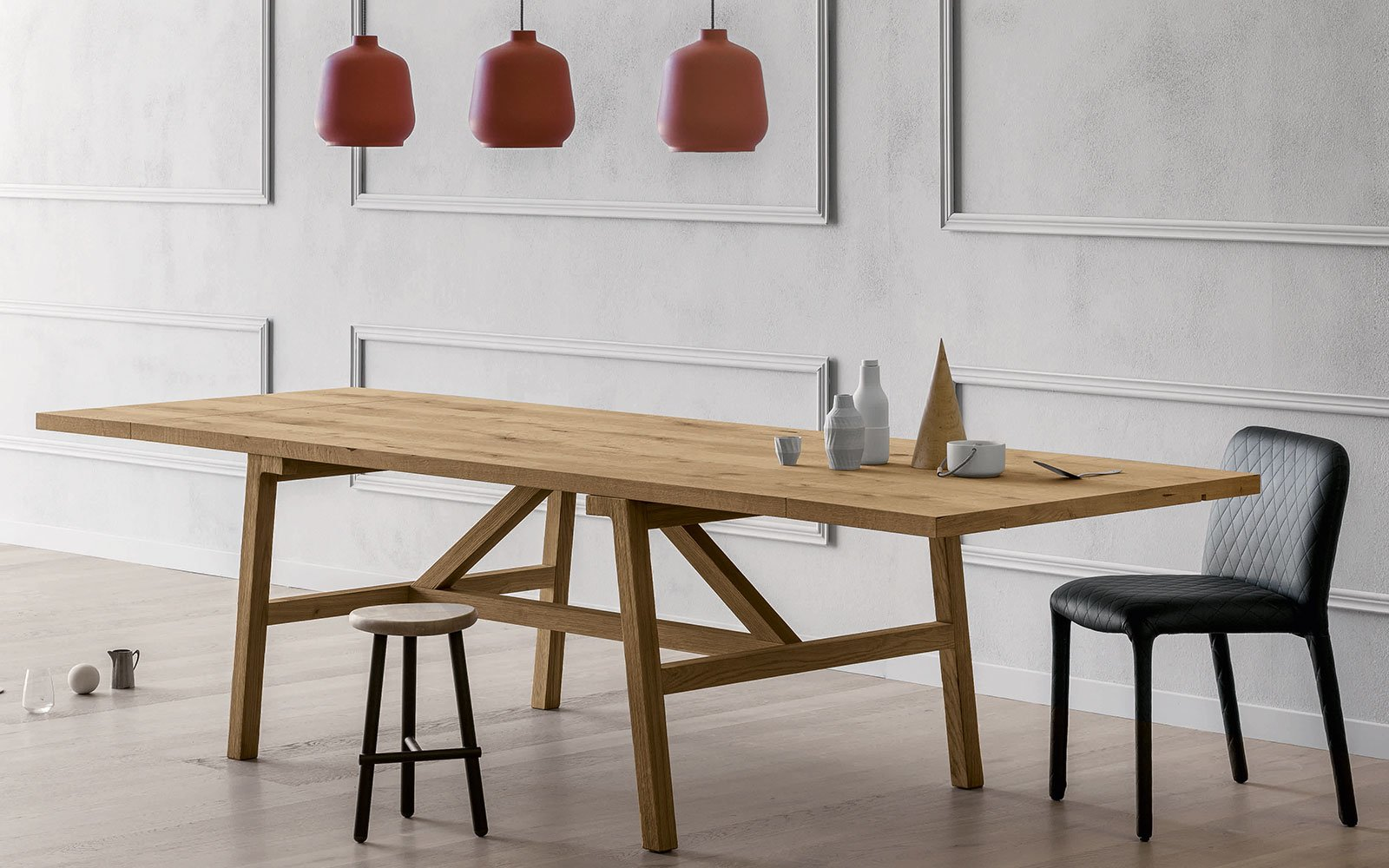 FRATTIONO contemporary wooden dining table miniforms