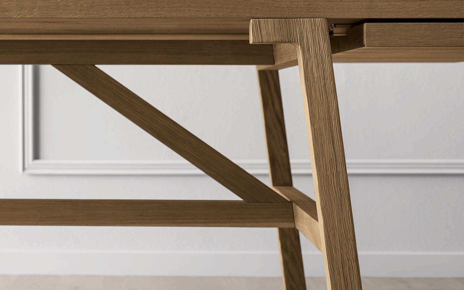 FRATTIONO wooden table details