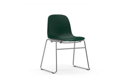 Form chair chrome stacking green normann copenhagen