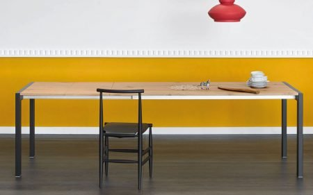 first extending dining table with wooden top by miniforms